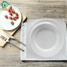 Fabrik Preis Porzellan Teller Quadrat Keramikplatten