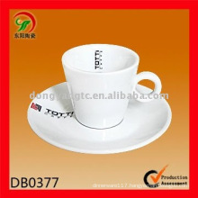 Factory direct wholesale ceramic cup with saucer