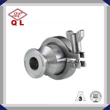Válvula de retenção sanitária não retentora de aço inoxidável