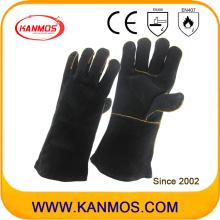 Черный Подлинная натуральная кожа Промышленная рука безопасности сварочные работы перчатки (111033)