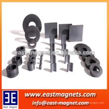 China personalizar Barato usado ampliamente Ferrite anillo imán / rotor de cerámica imán