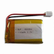 7.4V Lithium Polymer Battery Pack with 1,300mAh Nominal Capacity, Measures 14 x 36 x 68mm