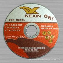 Disco de corte del disco del corte T41 de 115 * 1 * 22.2mm para el metal con En12413