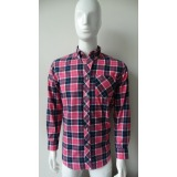 latest 100% cotton flannel men shirts
