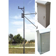 Security Monitoring CCTV Camera Mounted Pole, Galvanized Steel Pole