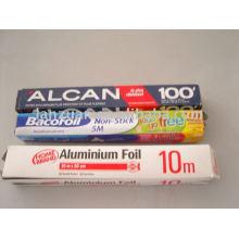 rollos de papel de aluminio