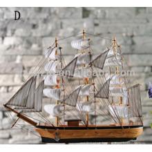 barco modelo de madeira barco de madeira decorativo