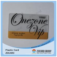 Cartão transparente do PVC do presente da impressão