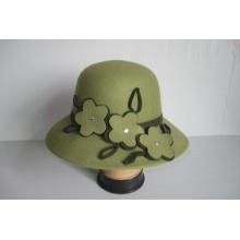 Sombreros de iglesia de fieltro de lana para mujer - YJ76