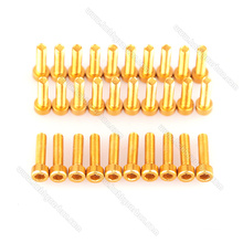 Hexagon Anodized Aluminum Button Head Socket Cap Screws