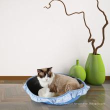 Casa interna oval durável do gato da natureza EVA sentiu o cão da cama da caverna do animal de estimação do gato