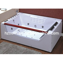 White Acrylic Sanitary Whirlpool Massage Bathtub (OL-676)
