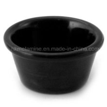 Круглый черный меламин Рамекин (BW249)