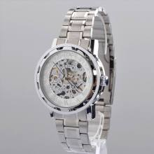 Silver protector security skeleton wrist watches