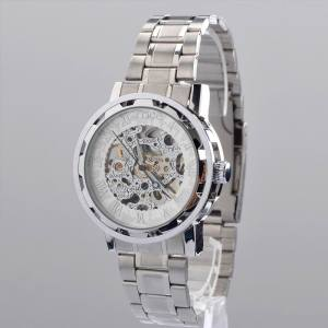 Silver protector security skeleton montres bracelet