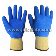 Work Glove with Colorful Latex Fully Coating (LY2012F)