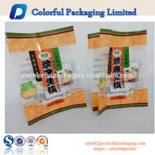Galleta de arroz impreso envasado de alimentos de plástico bolsa personalizada con ventana