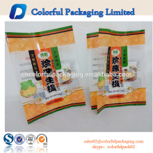 Rice cracker printed plastic food packaging customized bag with window