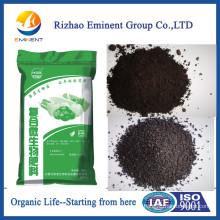 Fertilizante orgánico con crecimiento de plantas orgánicas