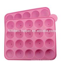 Eco-friendly BPA livre S20 Furos Lollipop Moldes Silicone com Stick