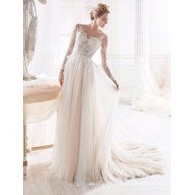 Beading A Line vestido de noiva vestido de noiva