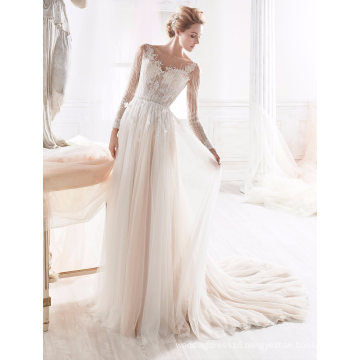 Beading A Line Wedding Dress Bridal Gown