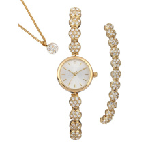 Woman Watch Gift Set Stone Watch Bracelet Necklace