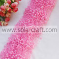3+8MM Size Pink Plastic Pearl Garland Link for the walls,windows and doorways of home decoration