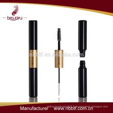 SAL-4, bouteille de mascara en plastique d'or et de couleur noire à deux têtes