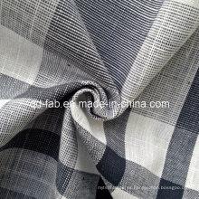 Hilado de algodón 100% teñido tejido de tela (QF13-0763)