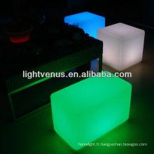 Chine Manufactuer RGB couleur changeant la chaise de banc de LED