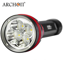 Archon Wy08 CREE XP-L Linterna de buceo de 3 modos 4000 Lumens (2 x 26650)