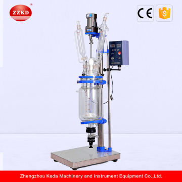 Small Double Wall Jacketed Glass Reactor