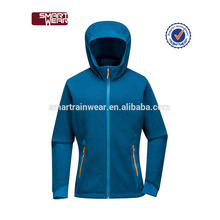Womens Zipper CoatBlue Farbe Blocked Leichte Fleece Jacke