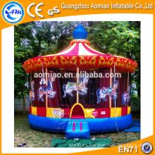 Sale vívido diseño jumper bouncer inflable carrusel de Navidad para niños