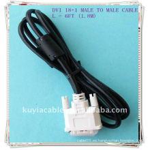 NUEVO 1.8M cable del monitor del LCD de 6FT DVI-D Cable del vídeo de Digitaces del solo solo del acoplamiento del milímetro del Pin 18 + 1