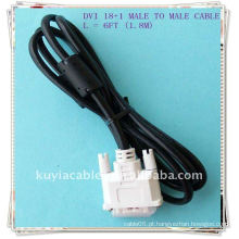 NOVO 1.8M 6FT DVI-D LCD Monitor Cabo 18 + 1 Pin MM Single Link Digital Video Cable
