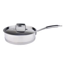 Straight body elegant stainless steel cookware set