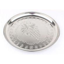 Фруктовая тарелка из нержавеющей стали с виноградом