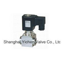 Válvula solenoide de rosca de 2 vías de alta presión de 24 VCC (YCGD)