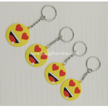 Promotional Emoticons and Smileys PVC Keyring