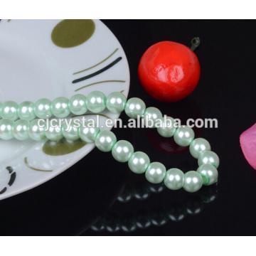 Cristal perlas cuentas cadena al por mayor