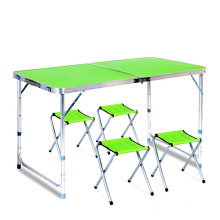 High quality low price height adjustable metal table camping party tables
