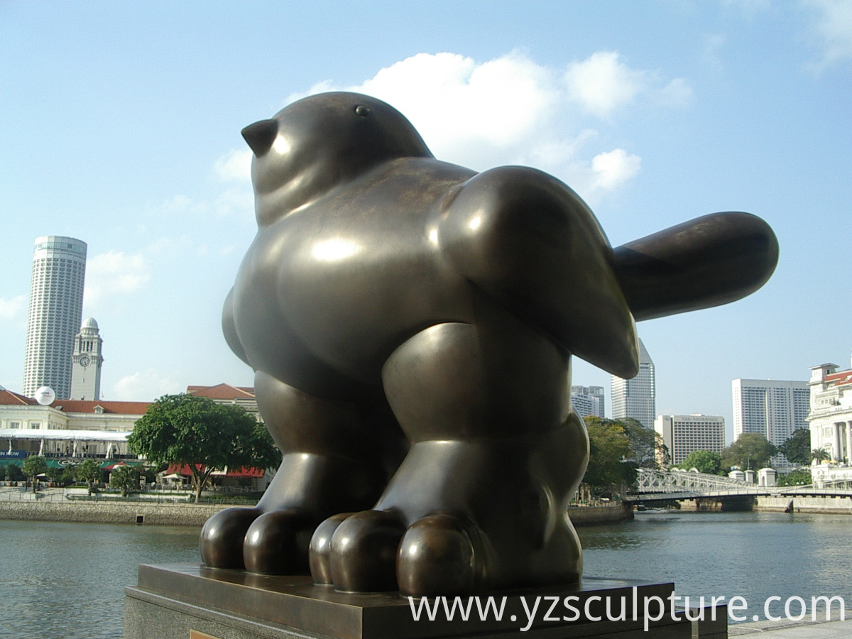 large size fat bird statue