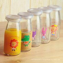 200ml Cylinder Glass Pudding Jar with Logo