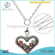 Цепь ожерелья медальона медальона сердца высокого качества сердца плавая