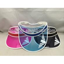 Heißer Verkauf preiswerter PVC-Sonnenblendehut-Sommerplastikvisierhut