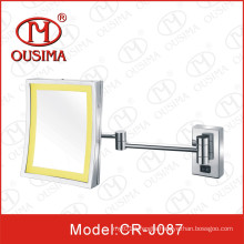 Wall Mounted Shower Room Square Makeup Mirror with LED Light