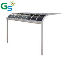 Easy Install Diy 2Mm Solid Polycarbonate Awning Villa Aluminum Alloy Canopy Awning For Sale
