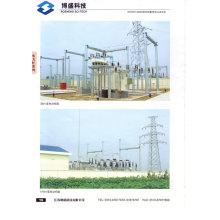 110kv Estructura de la subestación Pilar de acero galvanizado